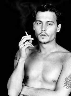 shirtless johnny depp