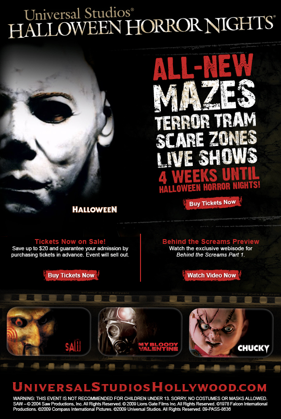 commercial break universal studios halloween horror nights horrorfatalecom - Halloween Universal Studios Tickets