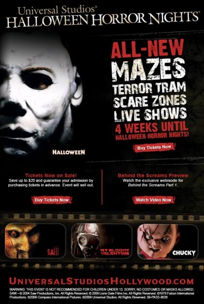 Commercial Break - Universal Studios Halloween Horror Nights ...